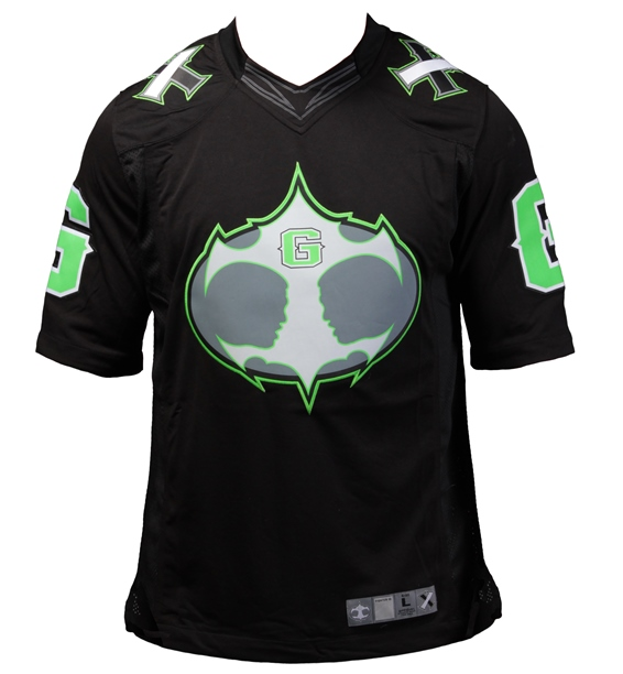 Authentic Fight Night MMA Jersey - Black/Fluorescent Green