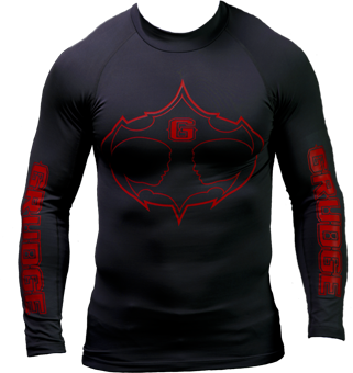 Ultra Compression Rash Guard - Black/Red